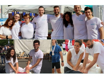 """I massaggiatori Synapsy alla """"Sarnico-Lovere Run"""" e alla """"Gran Fondo MTB"""" di Brescia"""