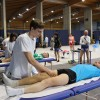 Servizio massaggi alla Mezza Maratona sul Brembo