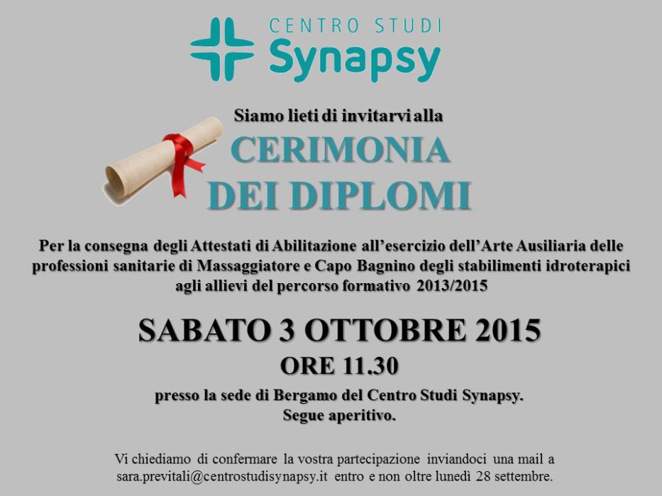 Sabato 3 ottobre 2015 – Cerimonia dei Diplomi